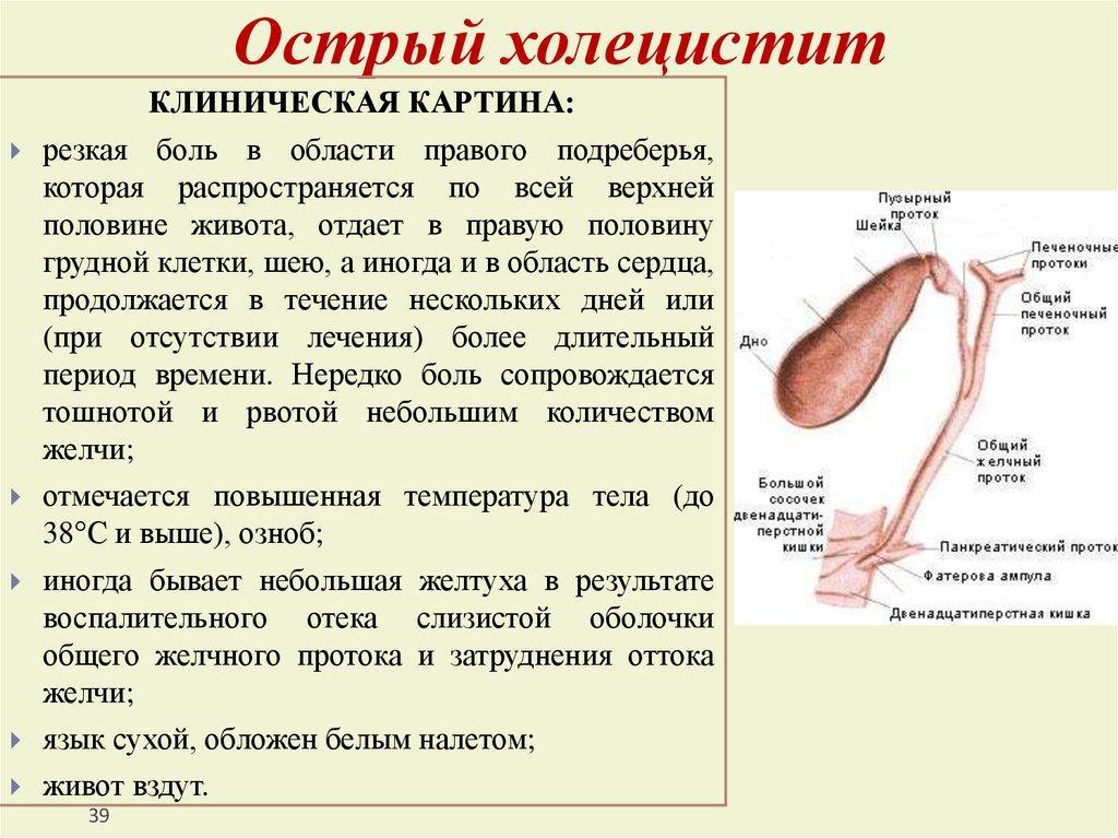 Калькулезный холецистит симптомы диета